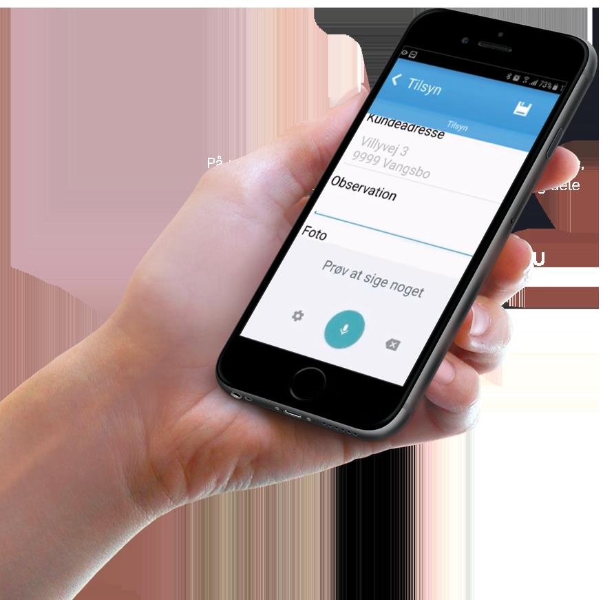 Kunderservice til Anysense mobil app