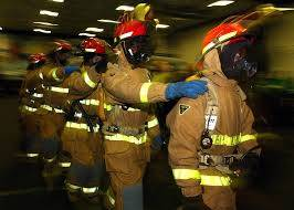 Brandmænd på række